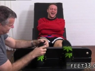 Young teen boy licks foot gay Kenny Tickled In A Straight Jacket