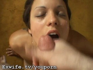 Ex Wife Eagerly waits for my cum to hit her face