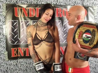 UIWP Entertainment Man vs Women Mixed Match Belly Punching