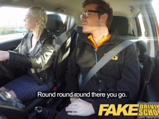 Fake Driving School Naughty blonde big tits learner in pigtails gets a deep creampie