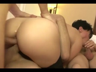 My Mom fucked by my fathers friend (Amateur Gangbang)