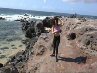 Brittany Shae is horny for you the whole time in Hawaii