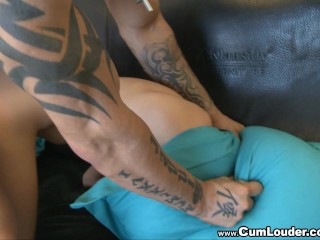 Blonde Teen Bernice fucked by a Strong Man