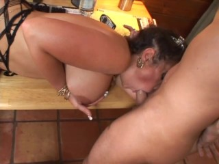 Naughty cougar in stockings and a big dick – Feline Films