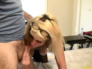 Milf Pee's Get's Face & Pussy Used Eats Cum Off