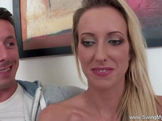 European Swinger Wife Fucks A Stranger