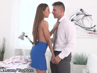 21Sextury Giving that Tight Ass to her Boss on the Job