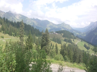 in the mountains with a panoramic view…