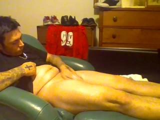 For Women – ( Constantine ) Inked Guy Masterbating – No Audio – Solo Male