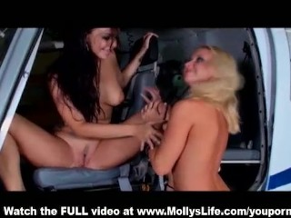 Molly Cavalli eating out her hot friend Sophia