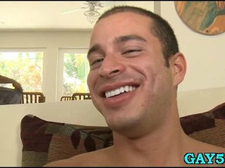 Gay stud plays with himself