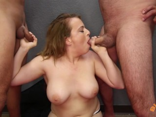 Big Tit Redhead Gets Cum Covered Face
