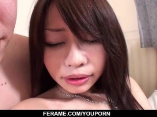 Japan wife, Yuri Aine, hard fucked in crazy hardcore