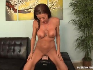 Riding Her Vibrator Deep When Horny