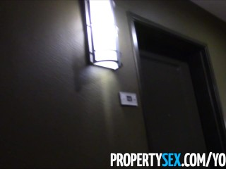 PropertySex – Pervert with camera tricks younger realtor into making homemade sex video