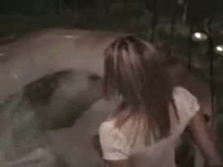 Hot amateur in the jacuzzi