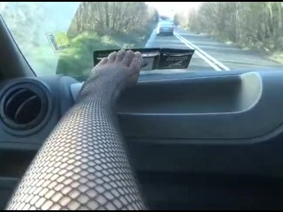 Extreme Public Blowjob on a busy irish road