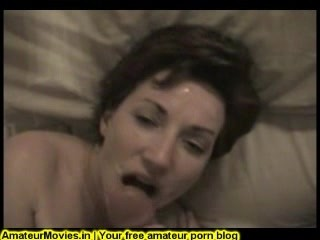 Amateur short fuck with cumshot in her face