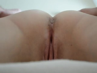 Rubbing my FB's slit – look at that tight fuck hole!