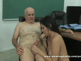 Horny Old Teacher And His Young Cute Student Fuck
