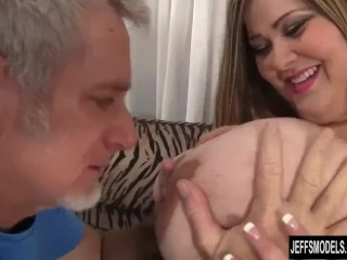 BBW Mandy Majestic Uses Her Massive Melons and Fat Belly to Satisfy a Thick Cock