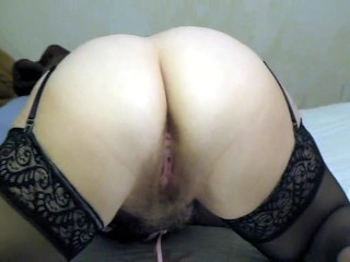 Showing off wifes butthole