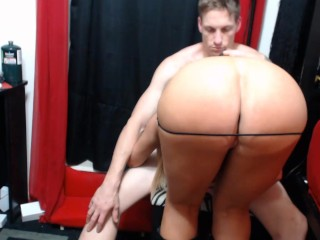 Watch sexy couple deepthroat cock, lick pussy then fuck in the ass