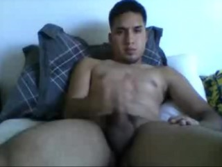 Str8 College Latino Swimmer Cums On Cam