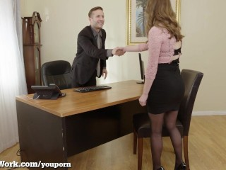 Pervy Boss Fucks His Hot Assistant!