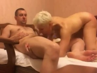 Blonde mom loves hard anal pounding