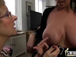 Old lesbos with huge boobies