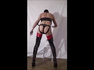 bisexfal in boots and harness