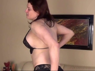 HD – Mature Shemale Playing With Her Tiny Cock On Webcam