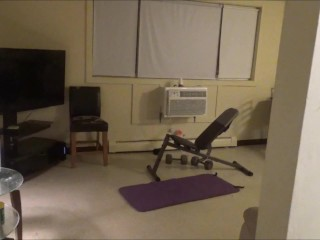 step sister fuck step brother after at home workout
