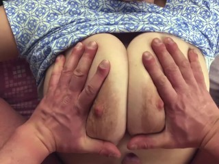 I love the big tits of my hot GF-Pov tit fuck, blowjob, fuck and cum on ass