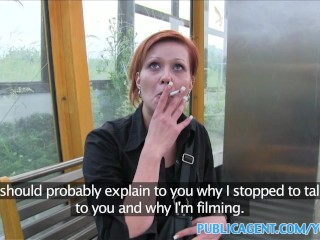PublicAgent Cash offered to fit czech barmaid for outdoor sex