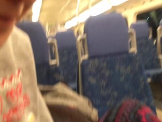Cute Girl Sucks Big Cock on Train