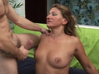 MILF gets her man