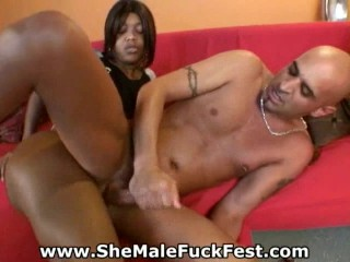 Stud fucked by hot shemale!
