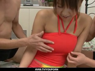Busty Japanese receives serious pleasures