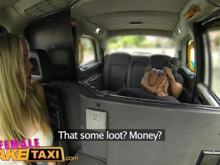 FemaleFakeTaxi Busty blonde creampied by criminal after blowjob and hard fucking