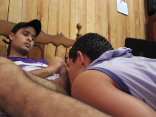 My bisexual bro suck my ass for first time