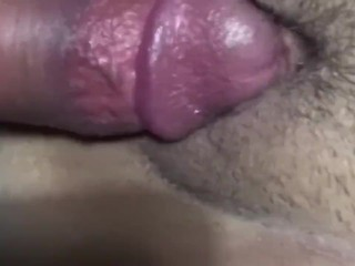 Quickie with husband before work, with creampie ending.