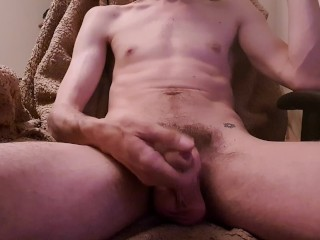 Big, Uncut, Hairy Dick…Soft to Hard, Wank, Lube, Cum and Soft Again