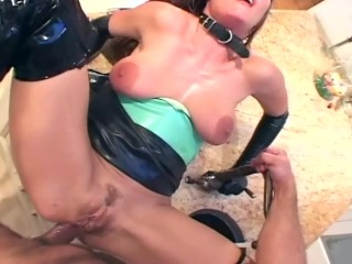 milf fucks in latex lingerie boots and gloves