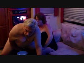 cuckold milked by tool and mistress