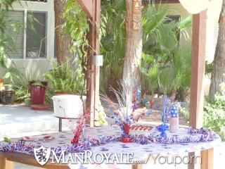 ManRoyale – Dylan Knight takes Vincent James cock on 4th of July
