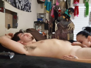 Getting my throat fucked hardcore while he blows smoke in my face