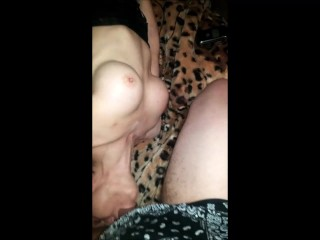 Facefucking a Milf With Fake Knockers