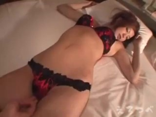 Japanese with big tits and sexy lingerie enjoy sex from all position